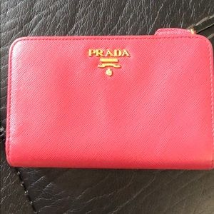 Prada Pink Wallet - Medium Saffiano